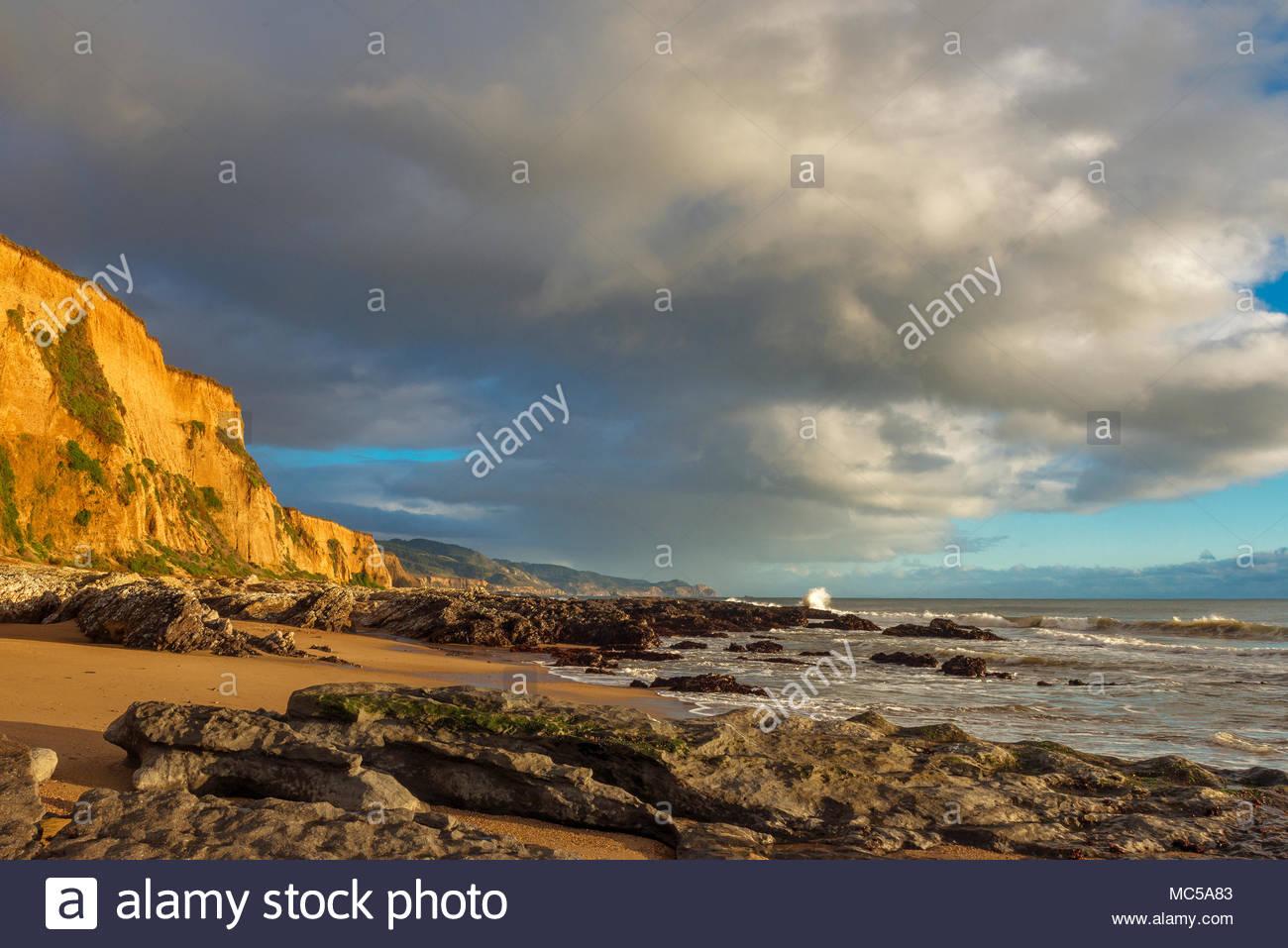 Sculptured Beach, Burton Wilderness, Point Reyes National Seashore, Marin County, California - Stock Image