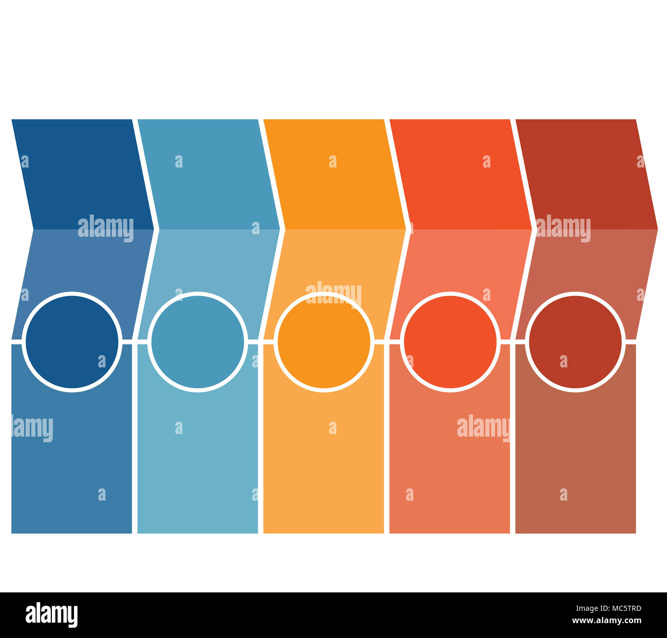 template infographics arrows columns circles design for timeline