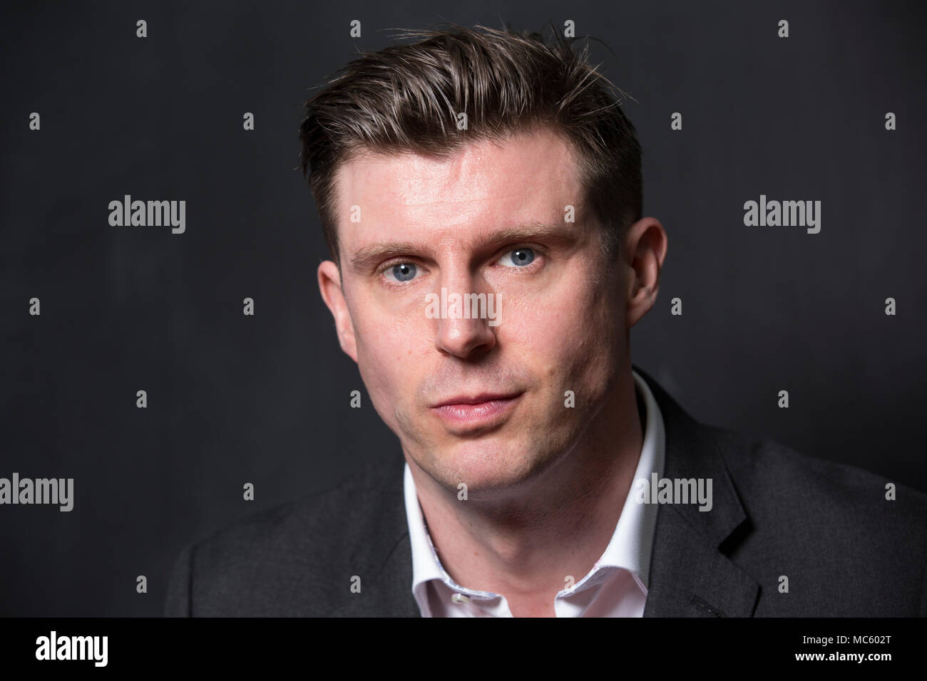 Matthew Reeve at Neurokinex. Matthew is the son of Christopher Reeve and Gae Exton, and has carried on his father's work with spinal cord injuries. - Stock Image