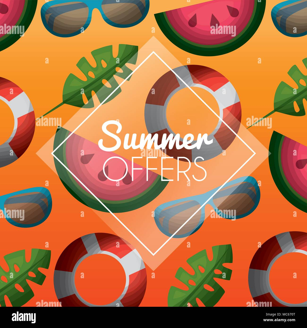 season summer image - Stock Vector