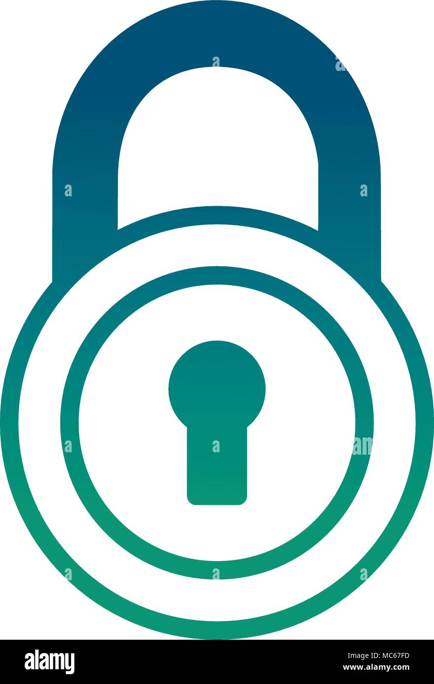 security padlock isolated icon - Stock Vector