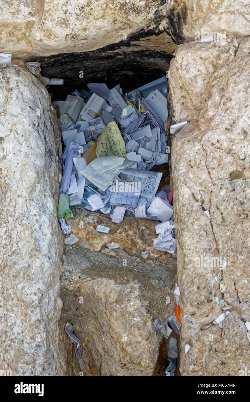 Western Wall,Wailing Wall,Kotel, Al-Buraq Wall, Klagemauer, Jerusalem. - Stock Image
