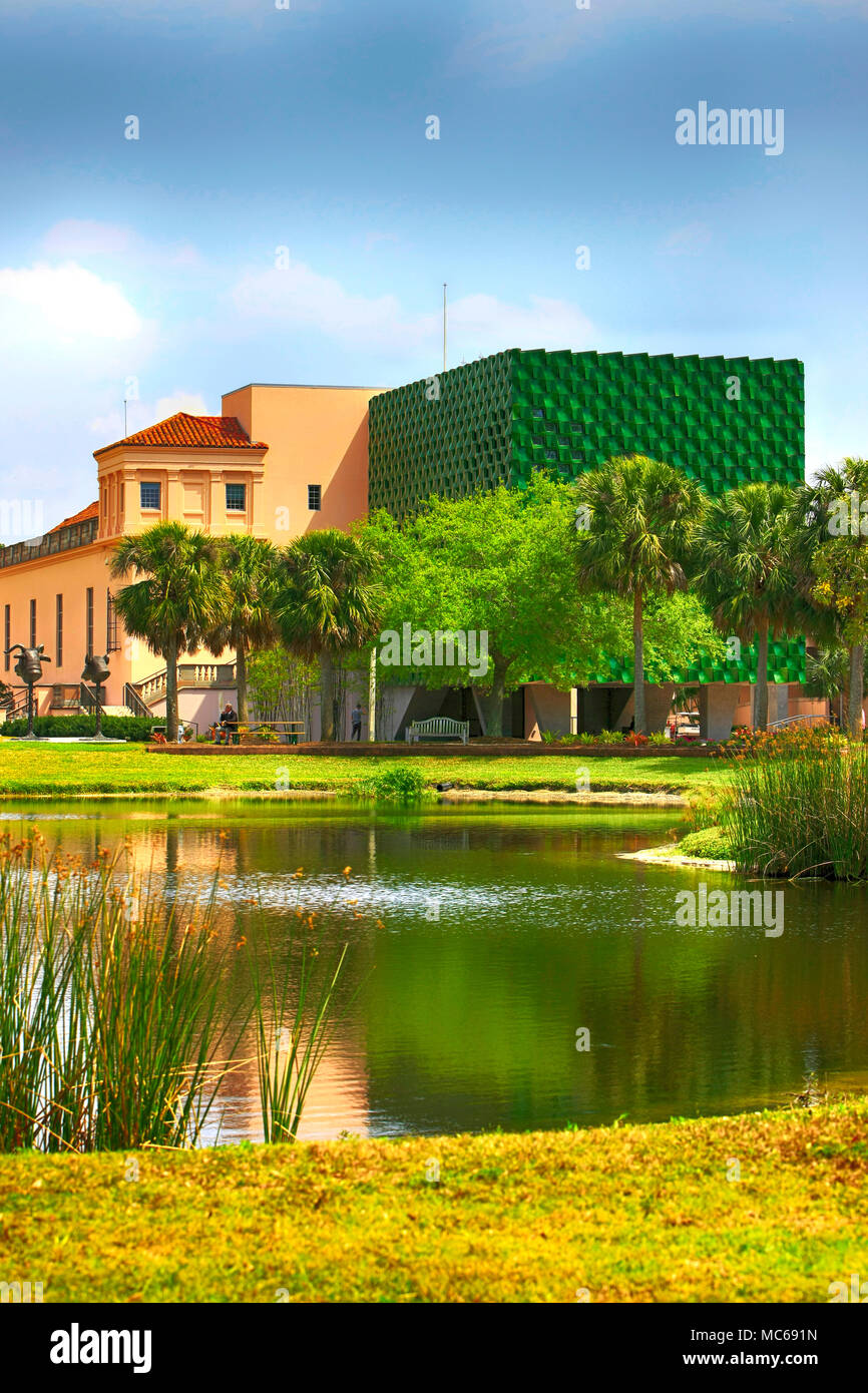 The new asian art museum wing at the Ringling Museum in Sarasota, FL, USA - Stock Image