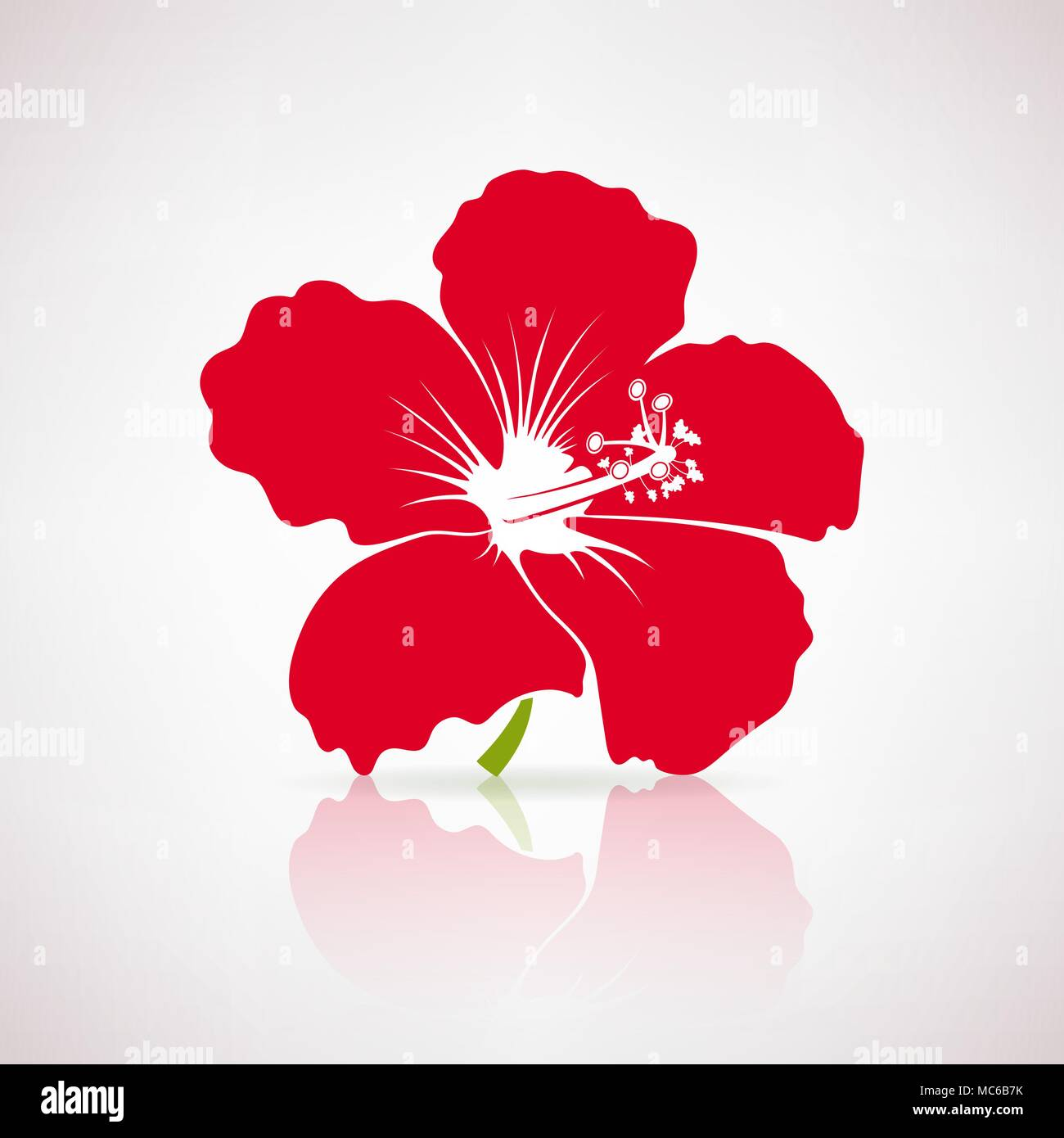 A hibiscus stock vector images alamy red hibiscus flower on a light background stock vector izmirmasajfo