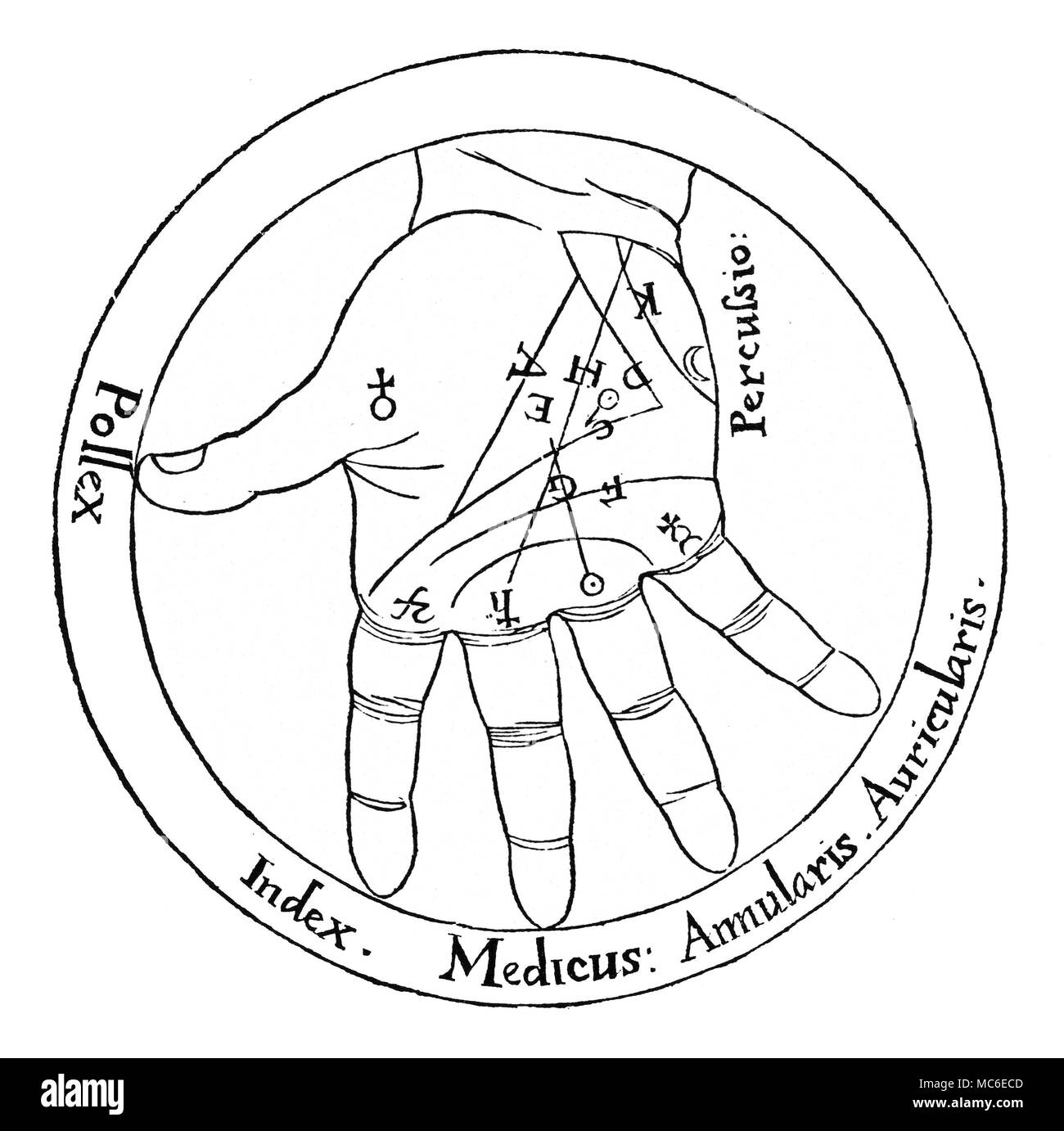 Palmistry diagram showing the names of the fingers planetary palmistry diagram showing the names of the fingers planetary mounts and the main lines by the english esotericist robert fludd the whole diagram is ccuart