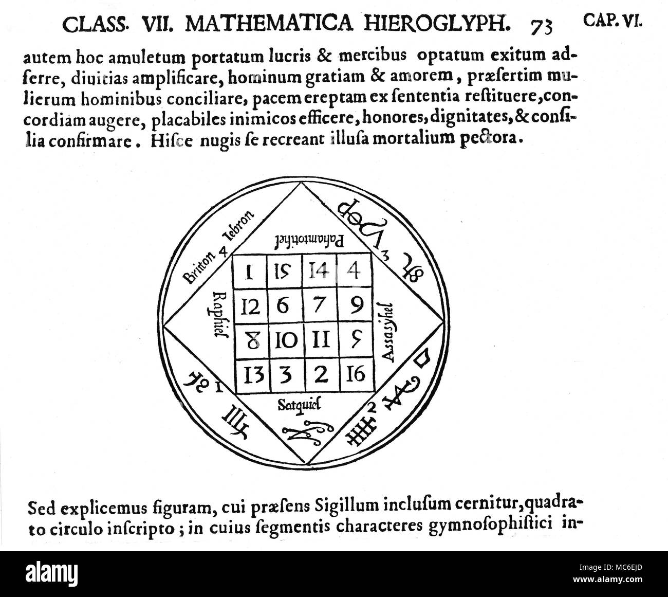 Kircher black and white stock photos images alamy magic symbols magic squares jupiter the tabula iovis or magic square of jupiter ccuart