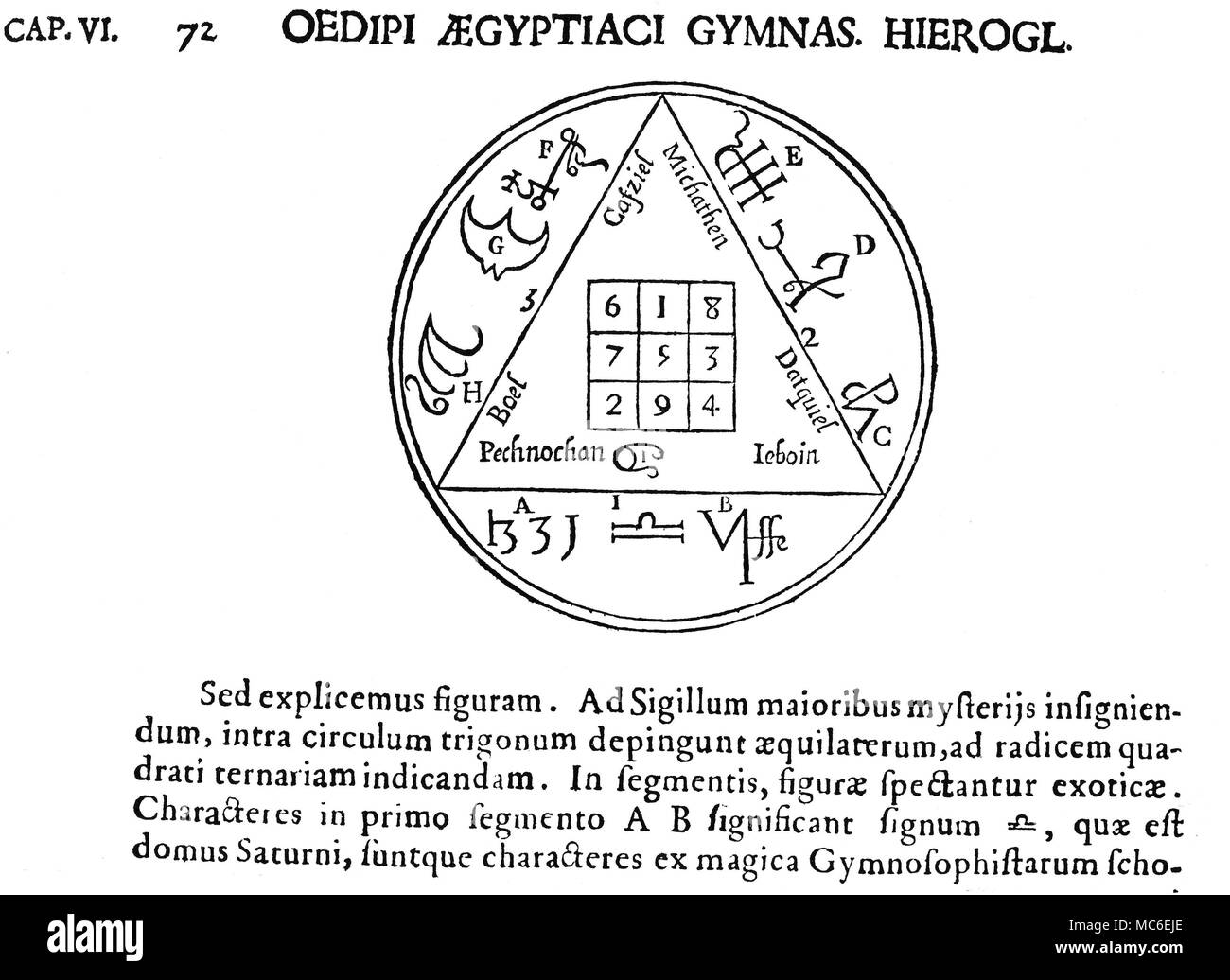 Kircher oedipus aegyptiacus stock photos kircher oedipus magic symbols magic squares saturn the tabula saturni or magic square of saturn ccuart