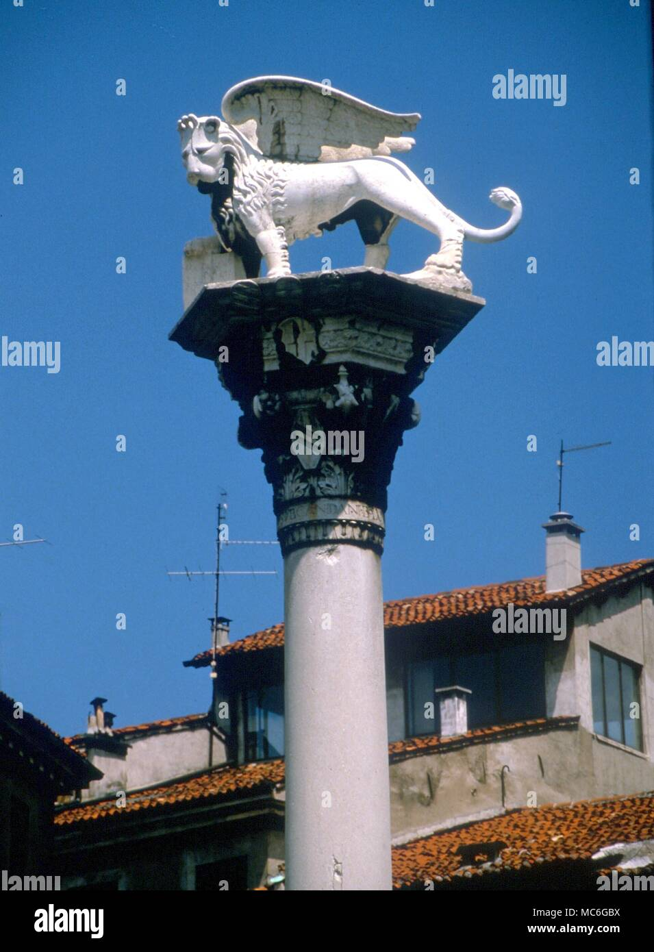 Lion Of St Mark The Symbol Of St Mark On A Column In The Main