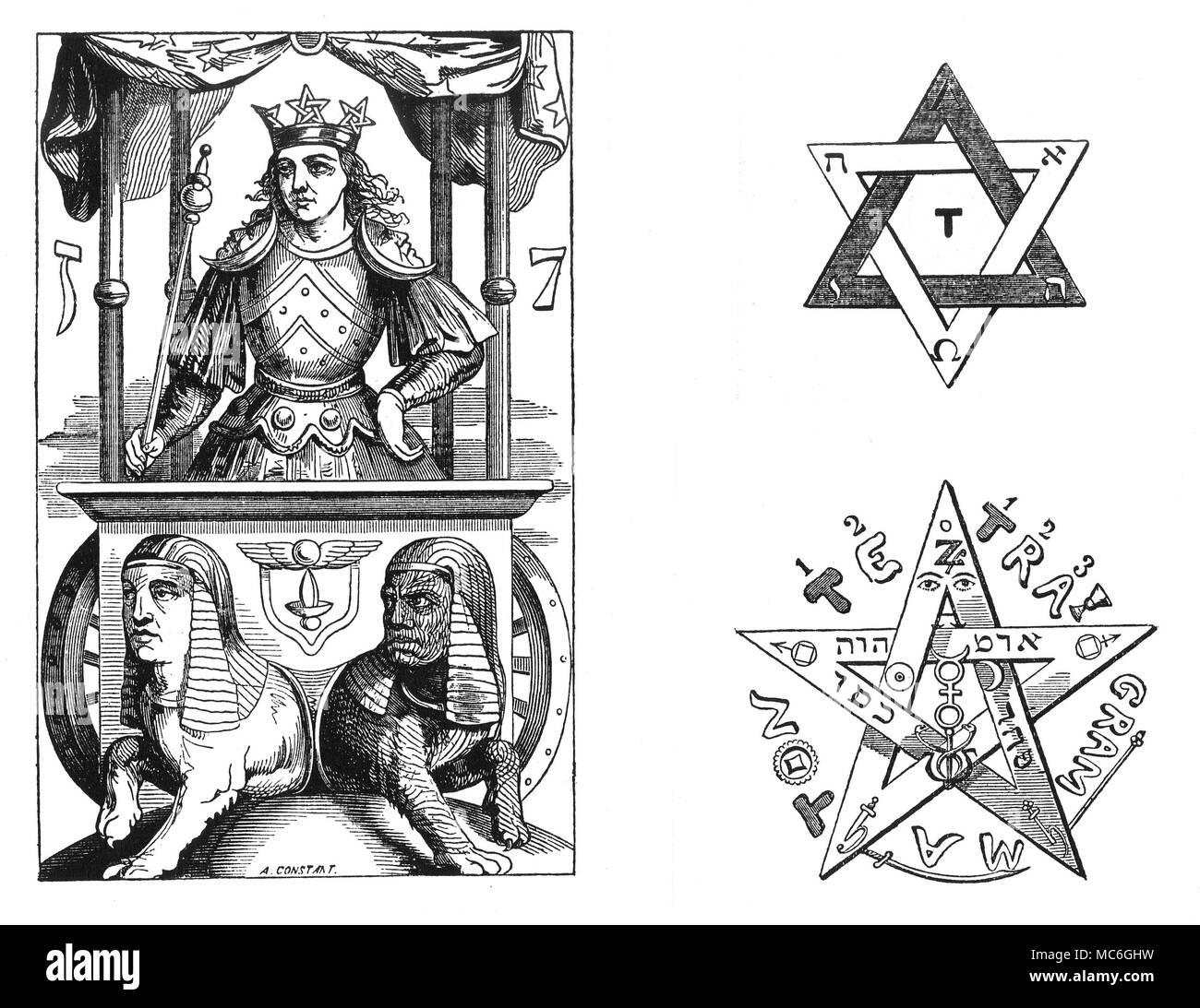 Magic Symbols Chariot Tarot Pentacles Liphas Lvi The
