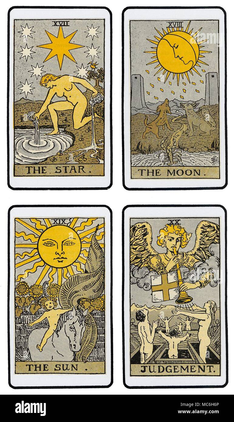TAROT CARDS - THE DE LAURENCE DECK The fifth set of four