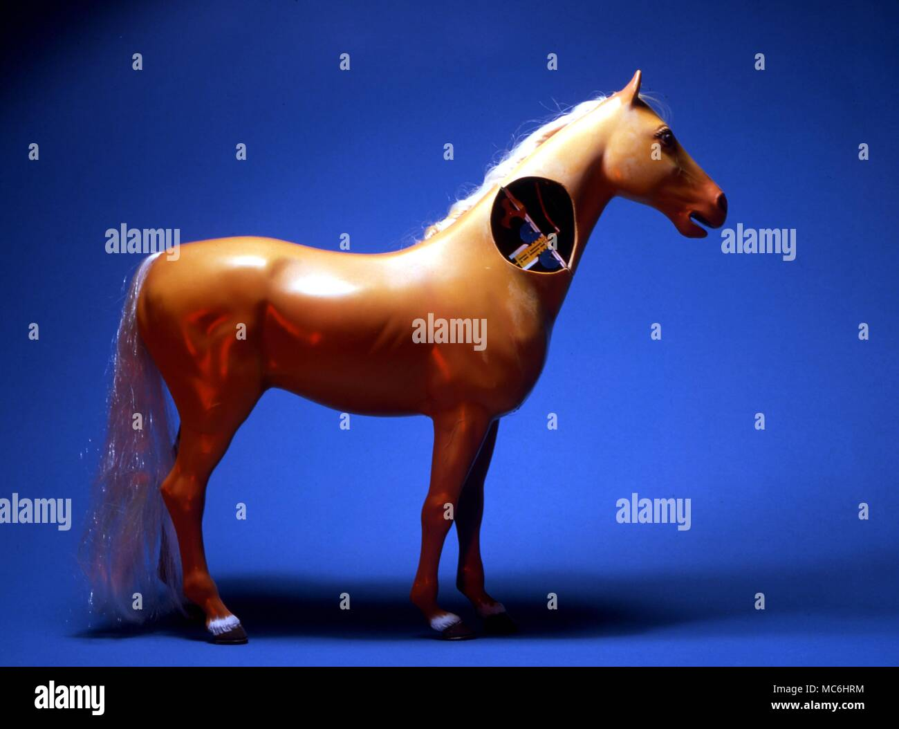 Stage Magic Mechanism For Hero S Horse The Mechanism Setin The Neck Of The Model Horse Permits A Sword To Cut Through The Neck Without The Head Being Cut Off The Horse Is