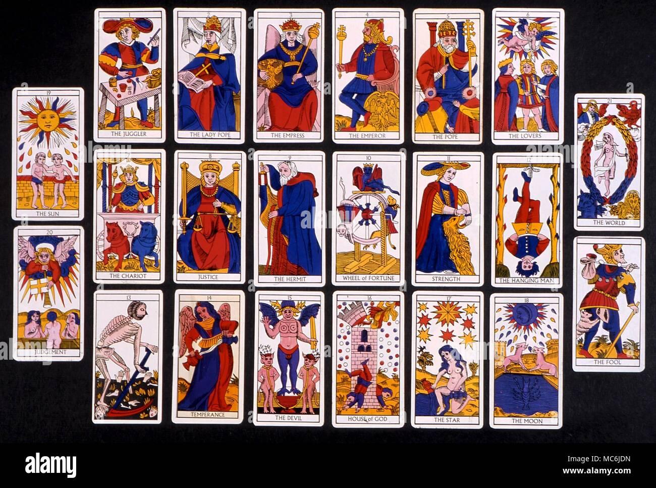 carte tarot de marseille TAROT   MARSEILLES DECK. The 22 major atout, or picture cards, of