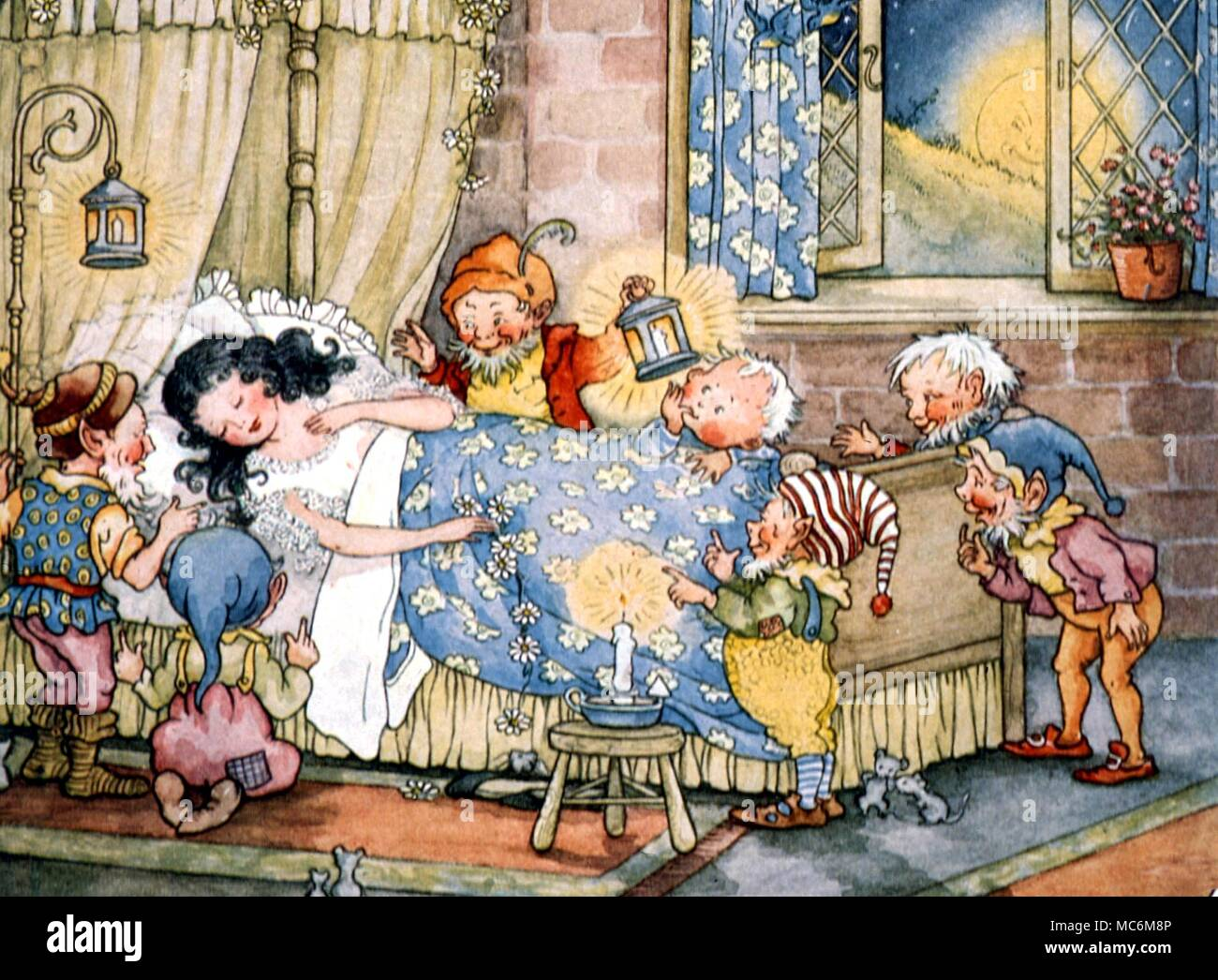FAIRY STORIES - SNOW WHITE  The Seven Dwarves are delighted