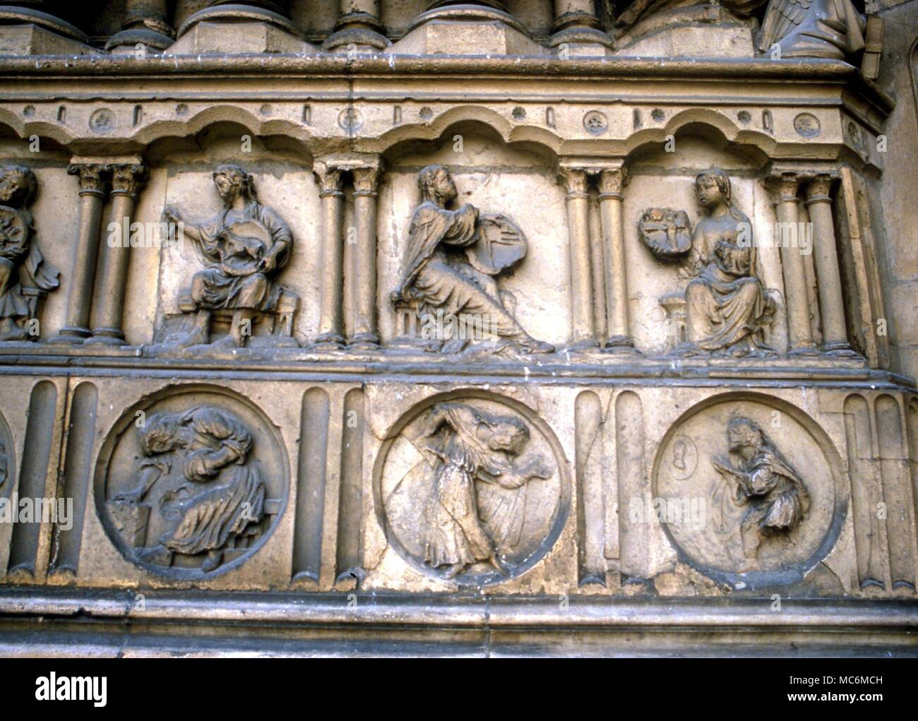 Alchemy Symbols Of Processes Six Alchemical Figures On The Facade