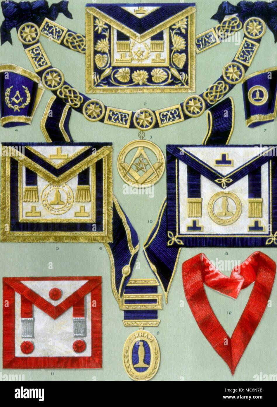 Masonic Aprons Etc Masonic aprons and other ritual gear of various