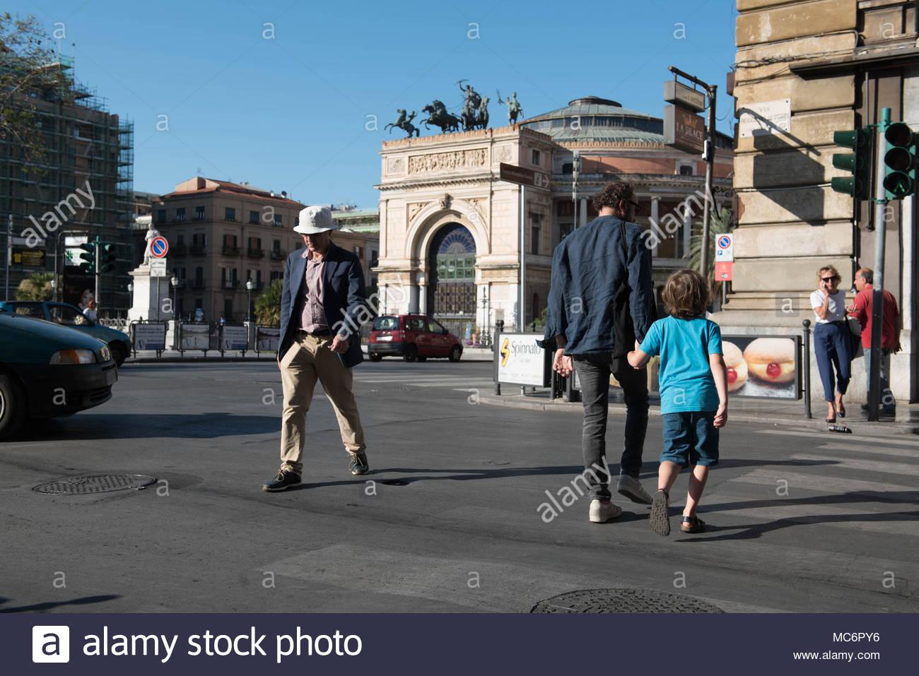 teatro politeama garibaldi, piazza ruggero settimo, palermo Stock Photo