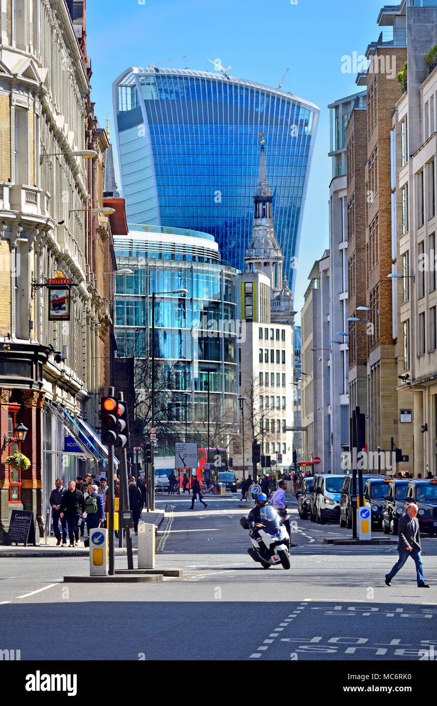 London,England, UK. Walkie Talkie Buuilding (20 Fenchurch Street) seen from Holborn Viaduct - Stock Image