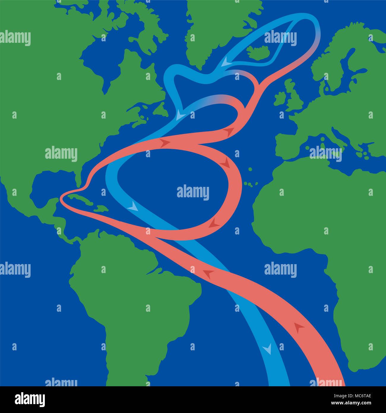 north atlantic ocean map stock photos amp north atlantic