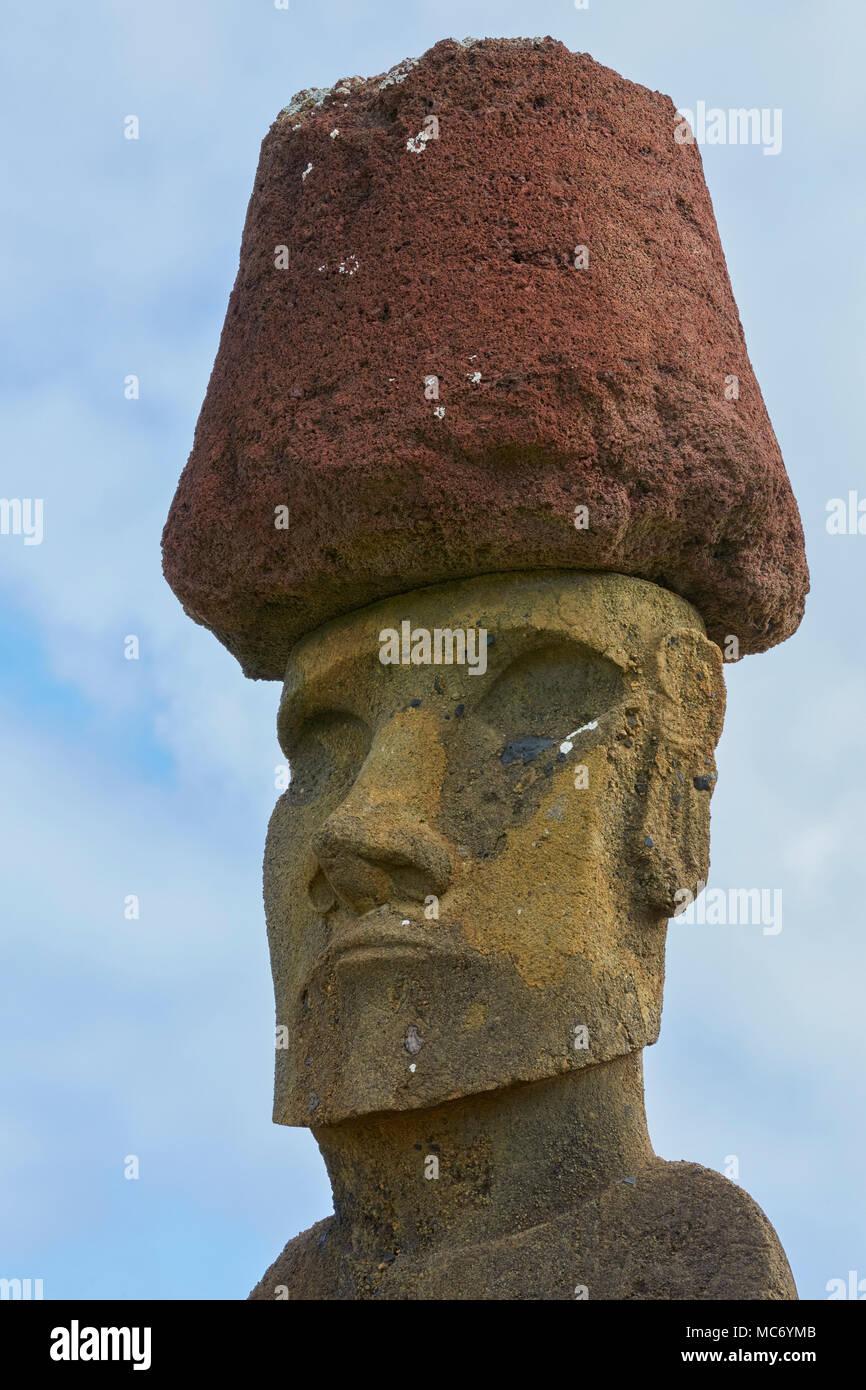 Ahu Nau Nau, Anakana, Easter Island, Rapa Nui, Chile, Isla de Pascua - Stock Image