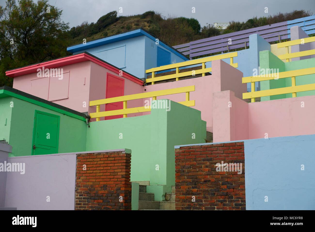 Seaside sheds, Folkestone Kent - Stock Image