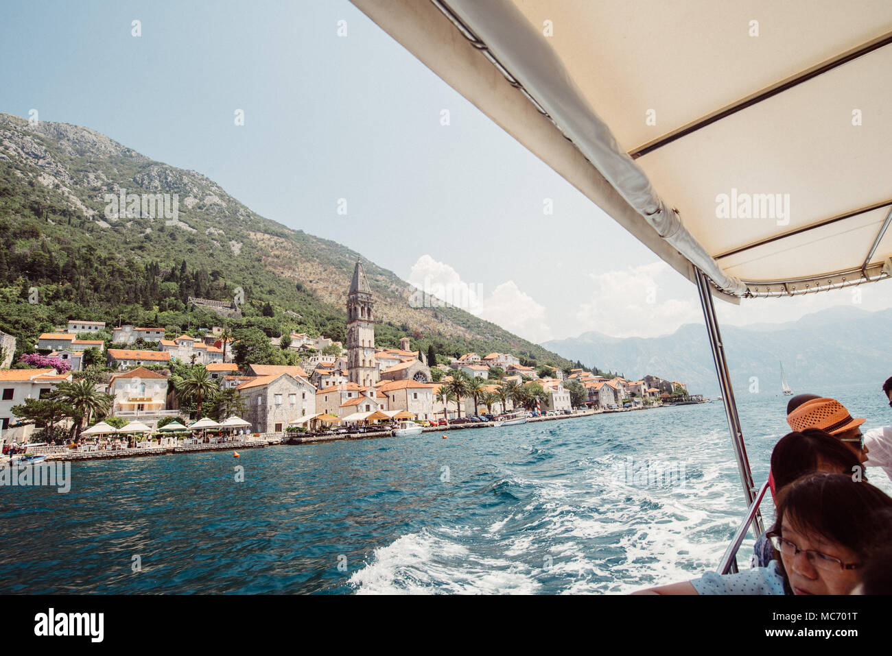 Bay of Kotor, Montenegro. The Mediterranean's only fjord. - Stock Image