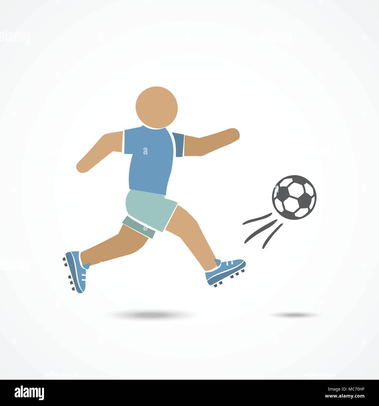 Soccer player illustration - Stock Image