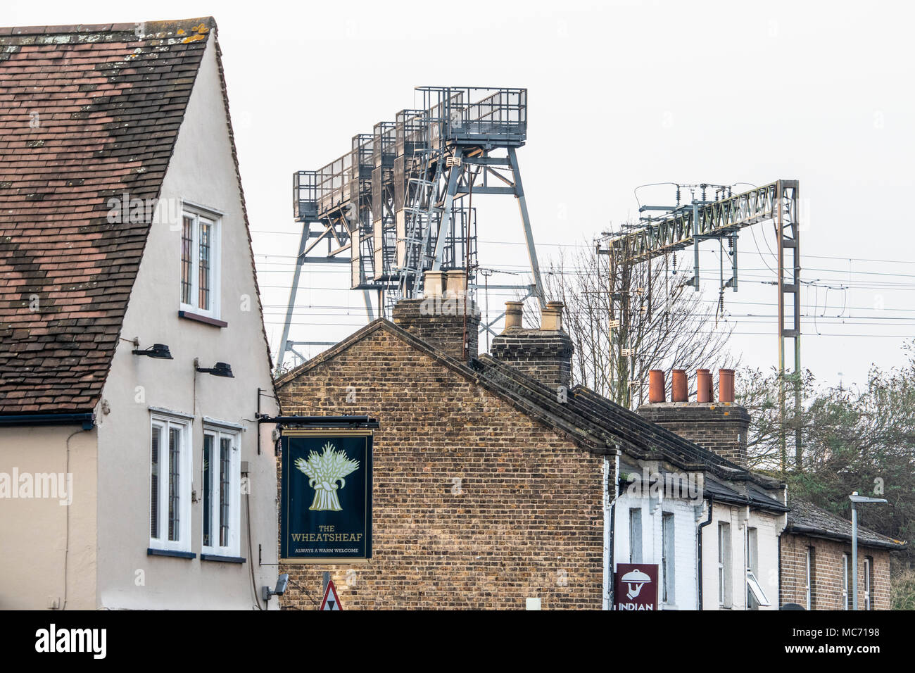 Shops and buildings in the centre of Chelmesford in the county of Essex UK - Stock Image