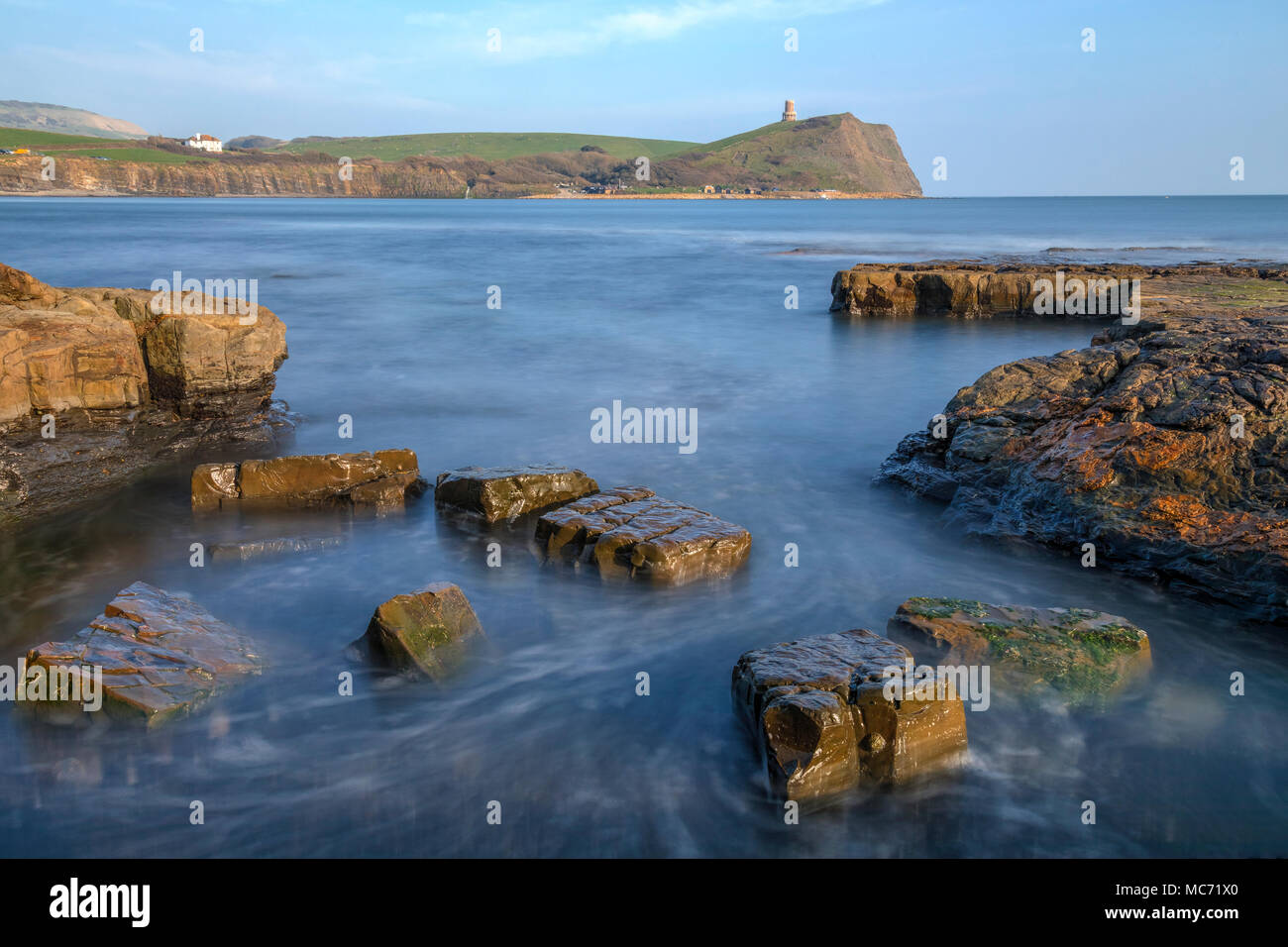 Kimmeridge Bay, Clavell Tower, Jurassic Coast, Dorset, England, UK - Stock Image