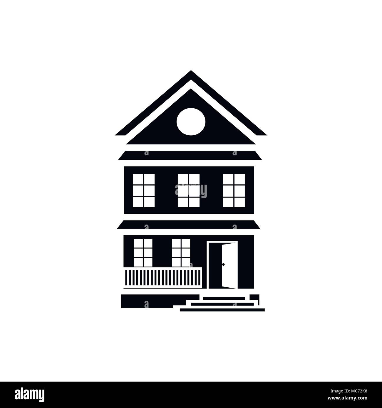 Best country house icon, simple style Stock Vector Art