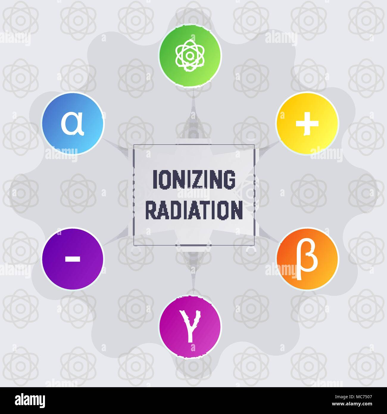 Ionizing radiation - Stock Vector