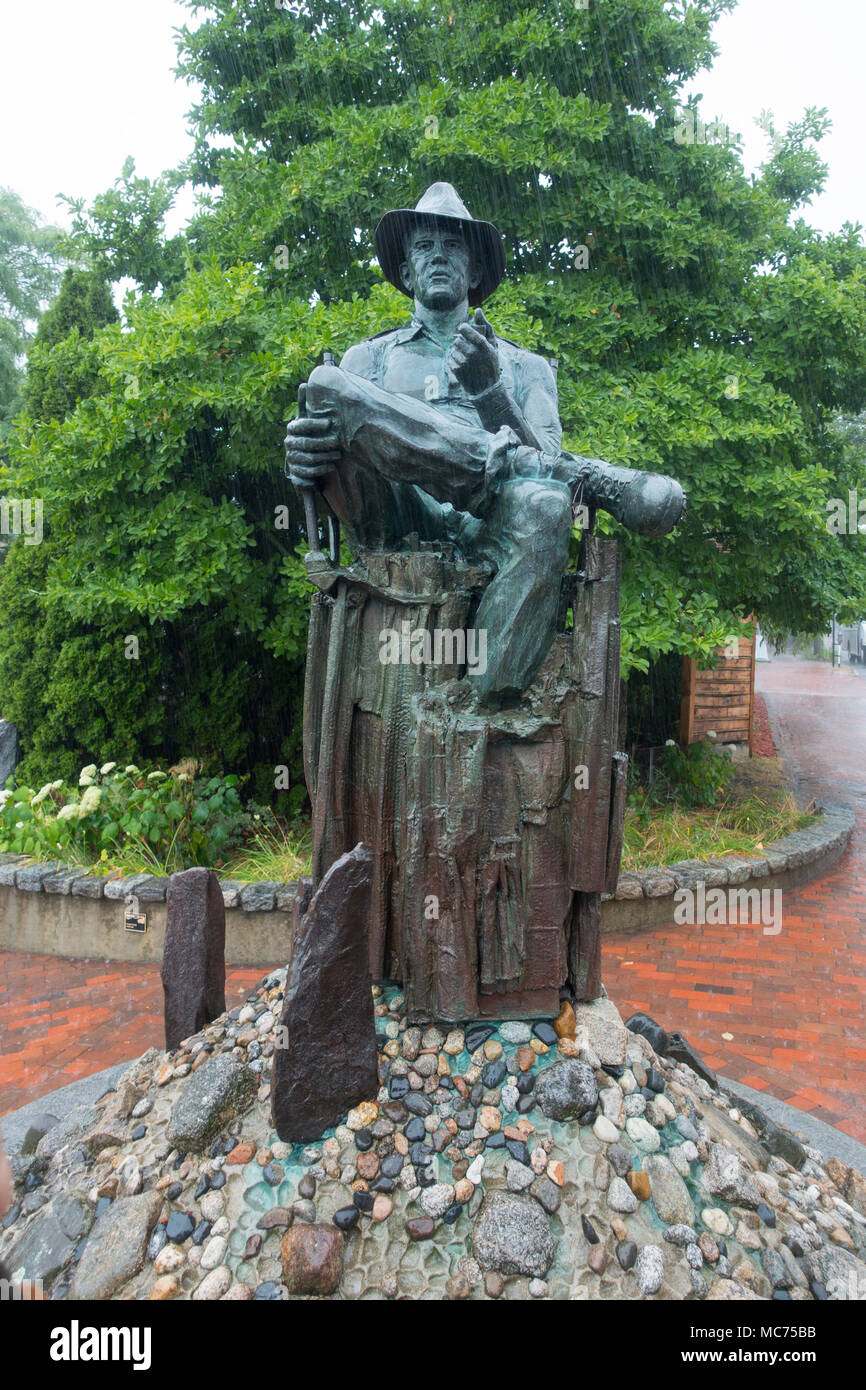 John Ford statue in Portland Maine Stock Photo