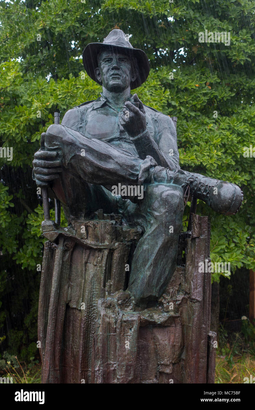John Ford statue in Portland Maine - Stock Image