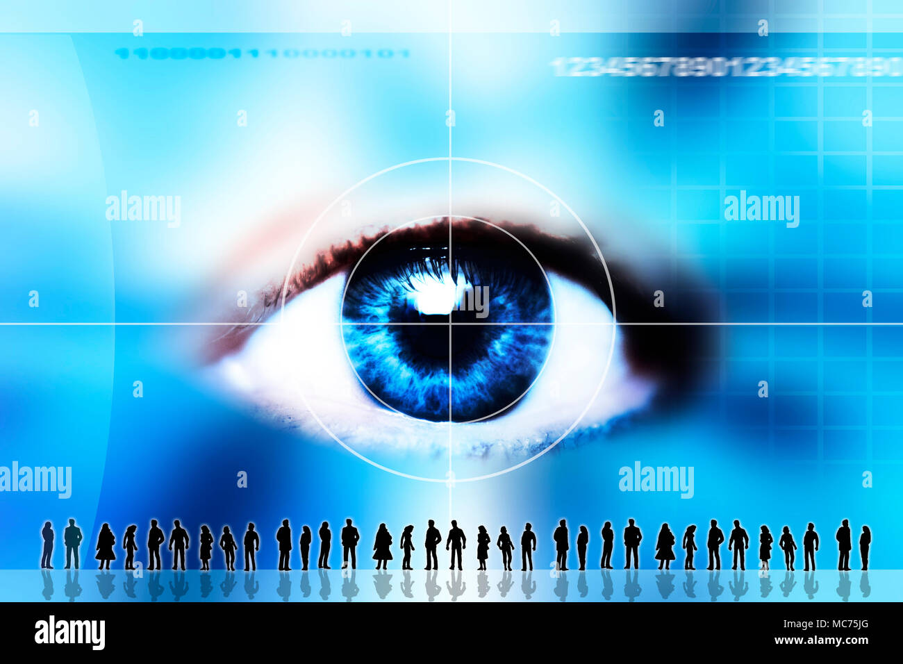 a conceptual image for Big brother and privacy concerns - Stock Image