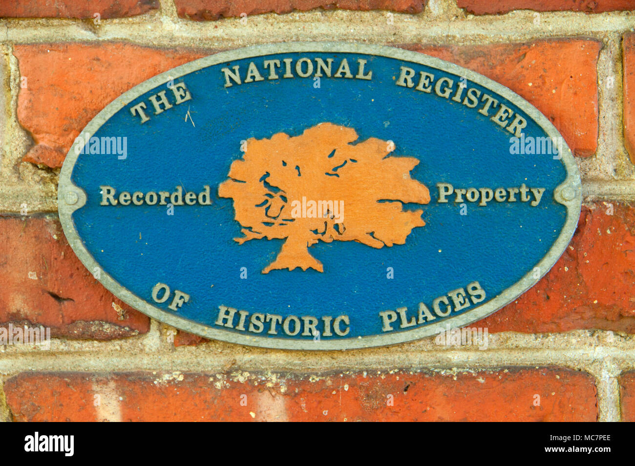 Chaffee House National Register of Historic Places marker, Windsor Historical Society, Windsor, Connecticut - Stock Image