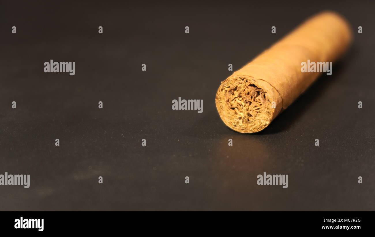 Cigars on Black background - Stock Image