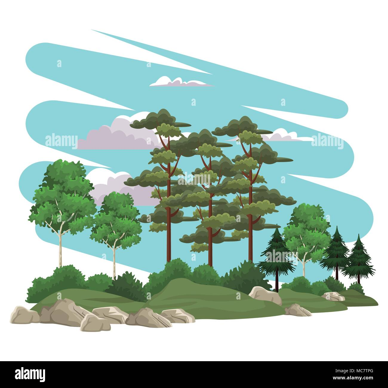 Beautiful landscape scenery - Stock Vector