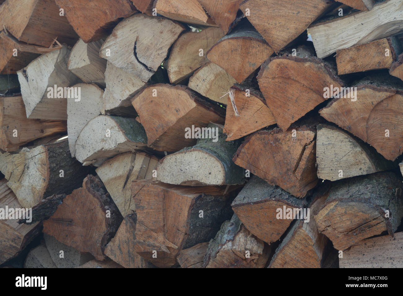 Woodblock For The Fire - Stock Image