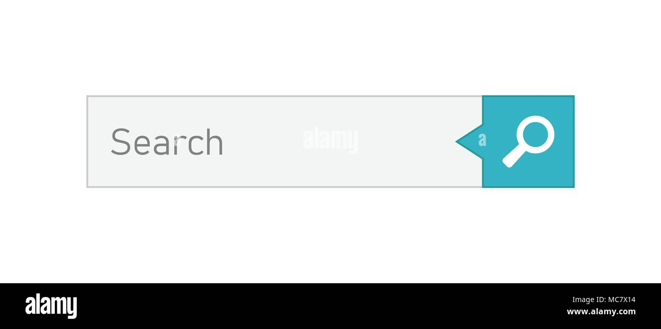 Search Bar Vector Ui Element Icon In Flat Style. Search