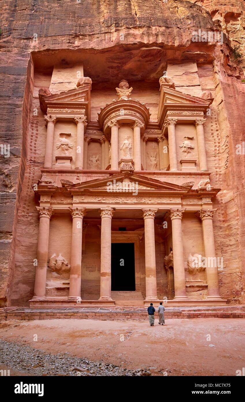 Al Khazneh Treasury, Petra, Jordan - Stock Image