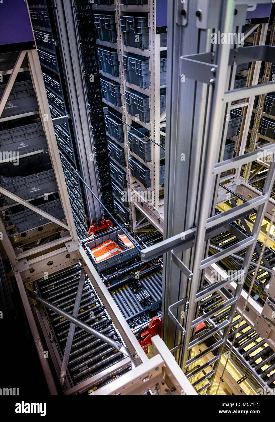 The Automated Warehouse At Gardners Books In Eastbourne, UK.   Stock Image