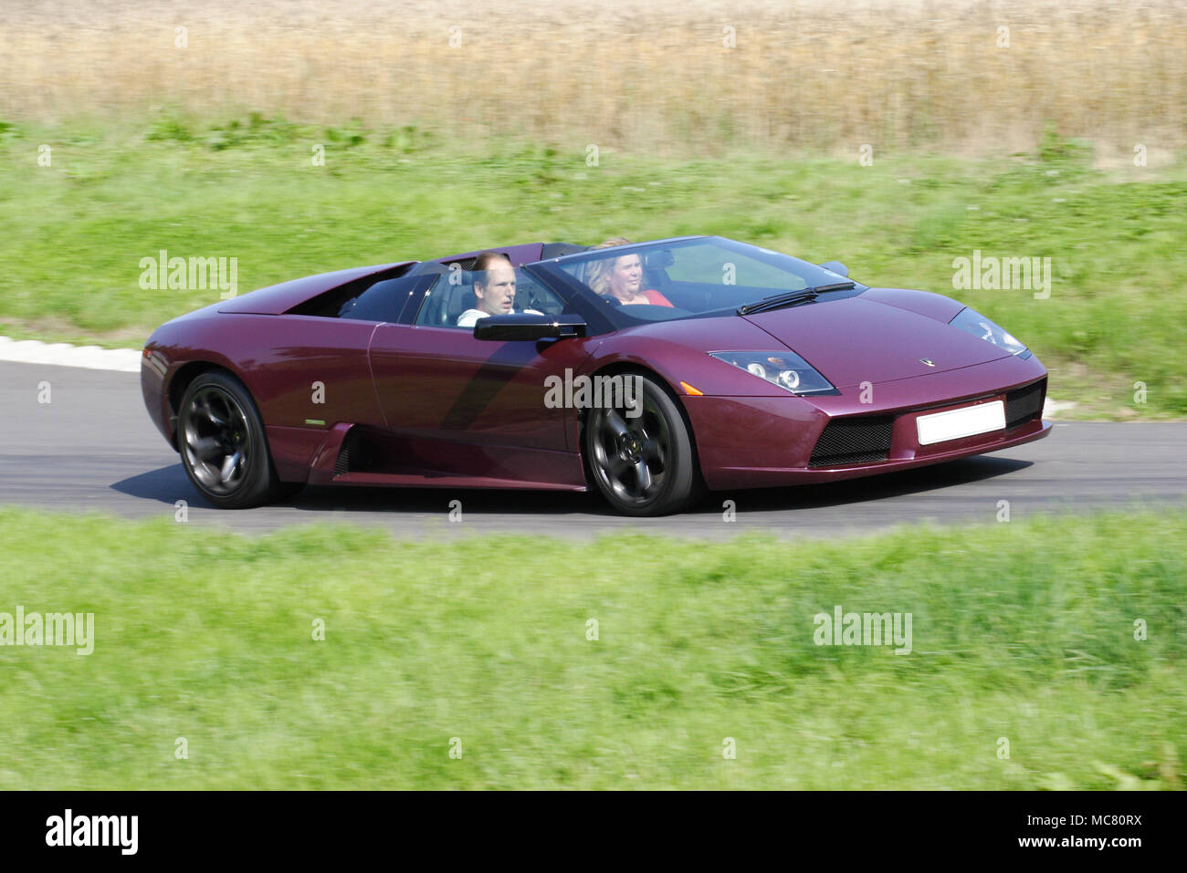 Purple Lamborghini Murcielago Roadster Open Top Or Convertible