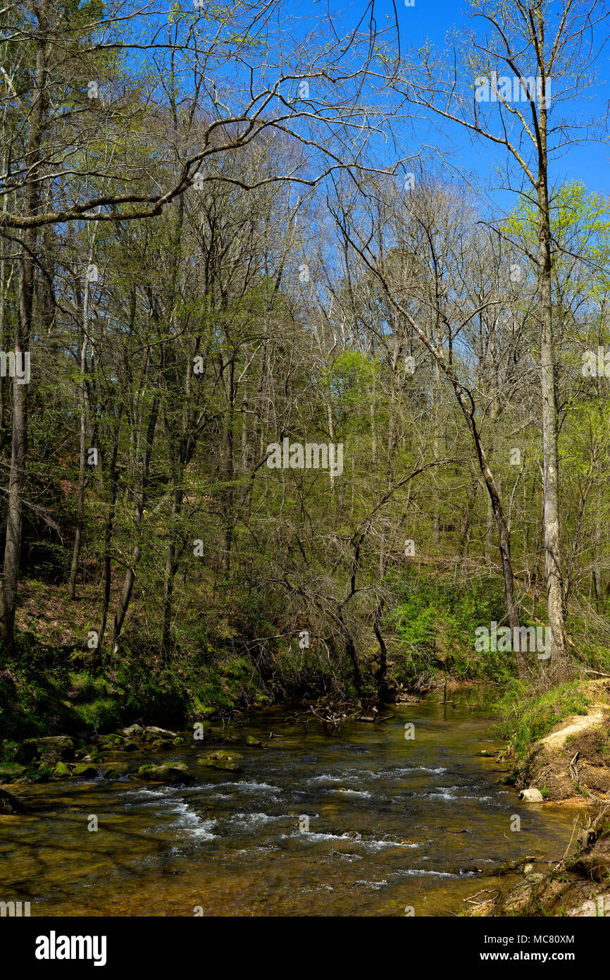 A beautiful spring day in northern Alabama. - Stock Image
