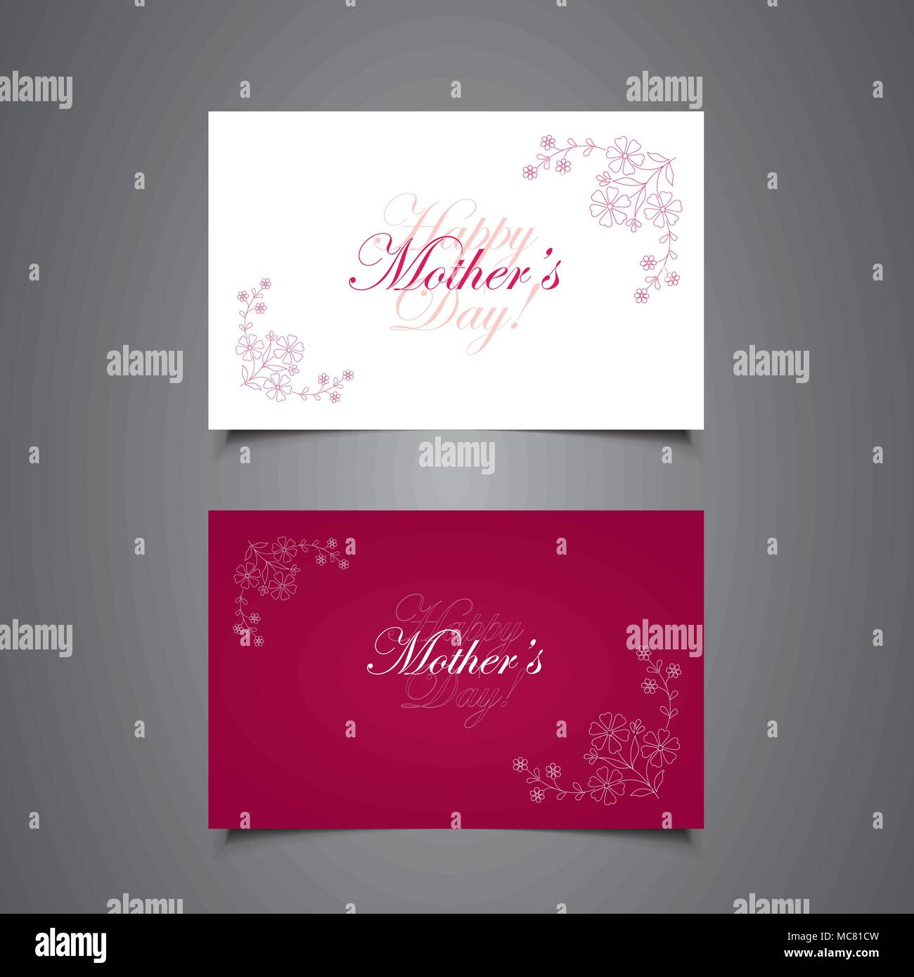 Colorful Old Fashioned Mothers Day Greeting Card Design