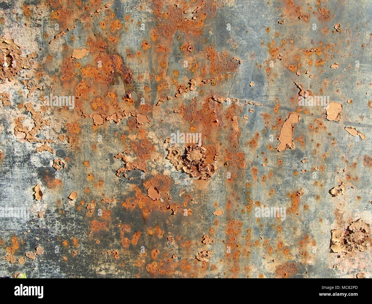 Abstract Rusty and PeelingTextured Background - Stock Image