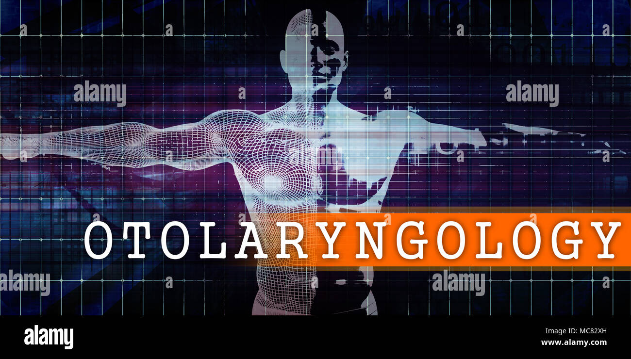 Otolaryngology Medical Industry with Human Body Scan Concept - Stock Image