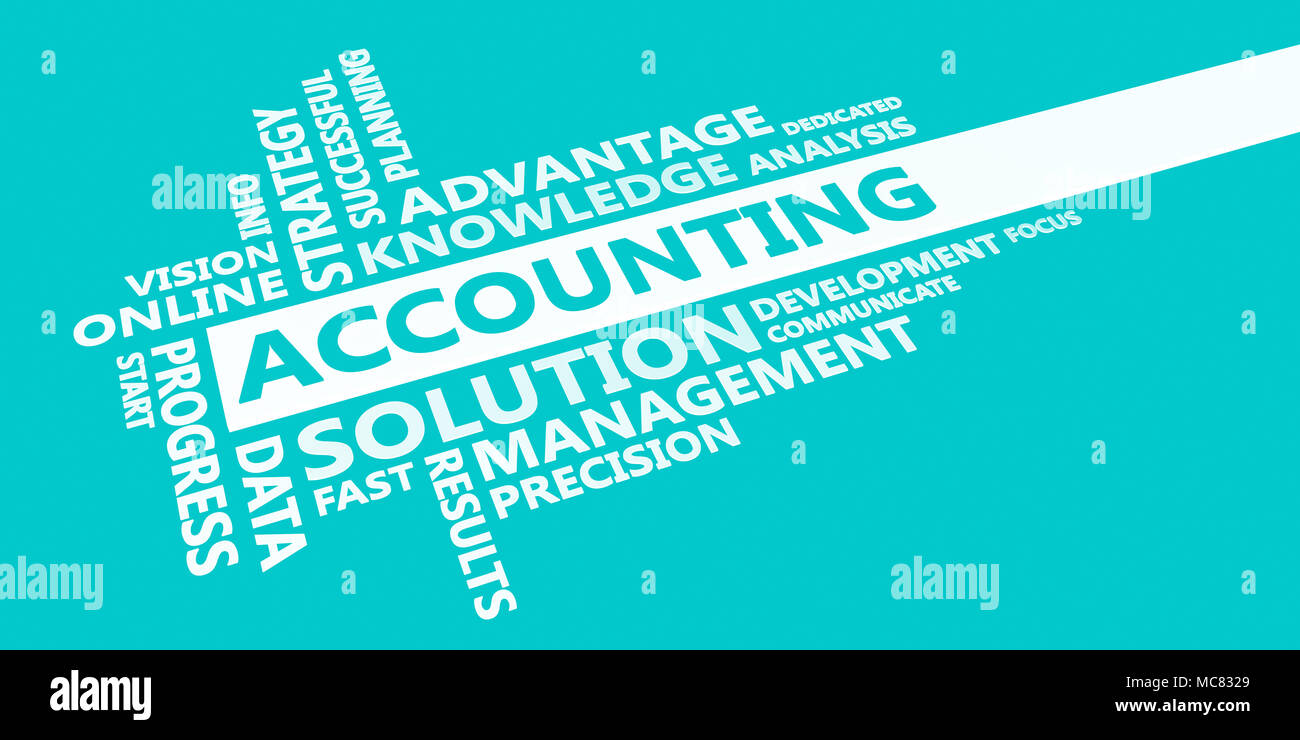 accounting presentation background in blue and white stock photo