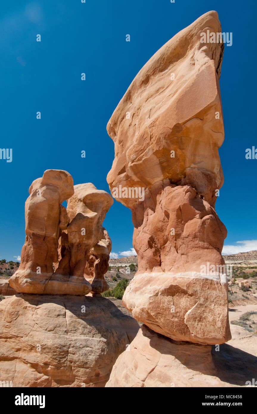 Devil's Garden (Entrada Sandstone); San Rafael Swell, central Utah - Stock Image