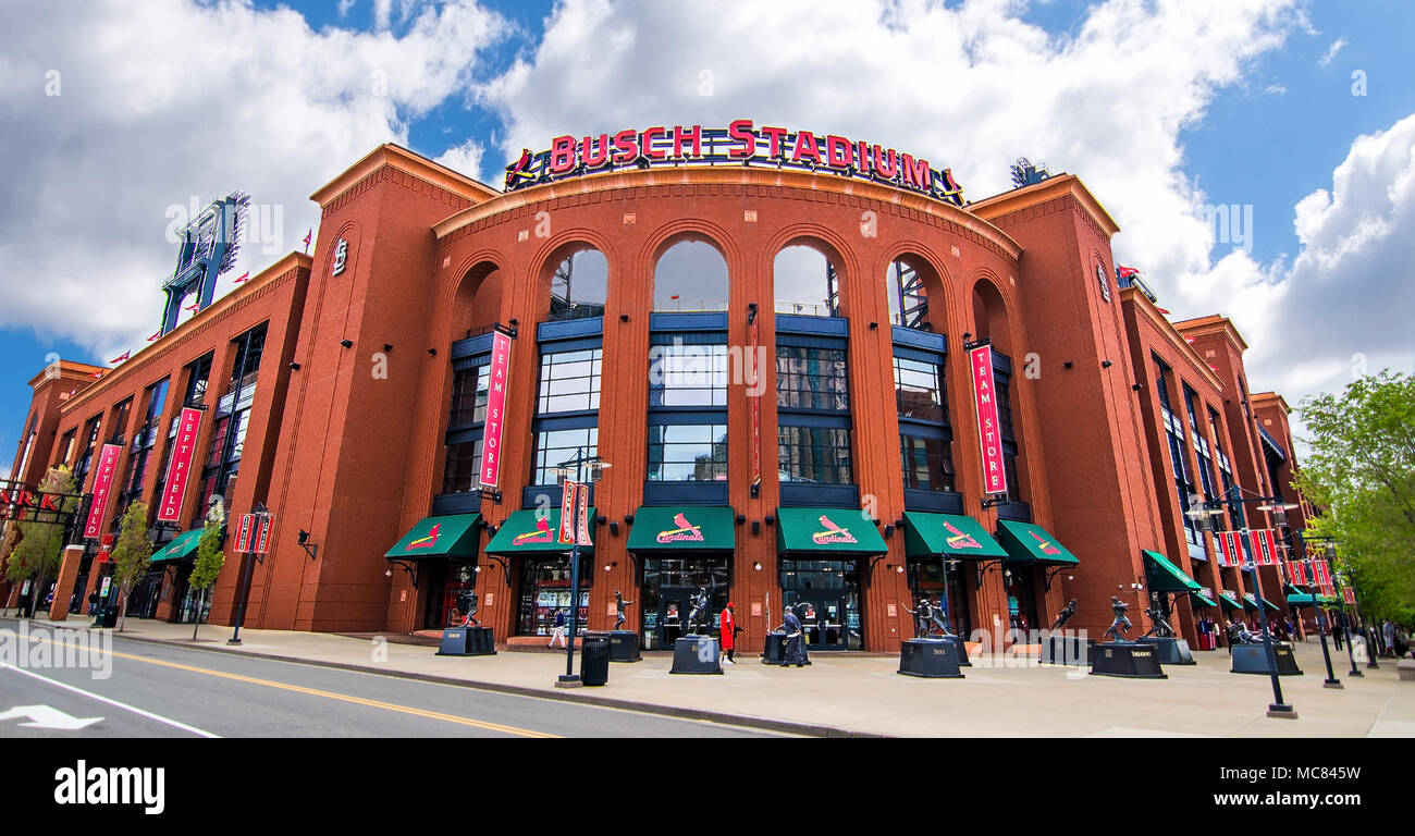 Saint Louis Cardinals Busch Stadium Wide Angle - Stock Image
