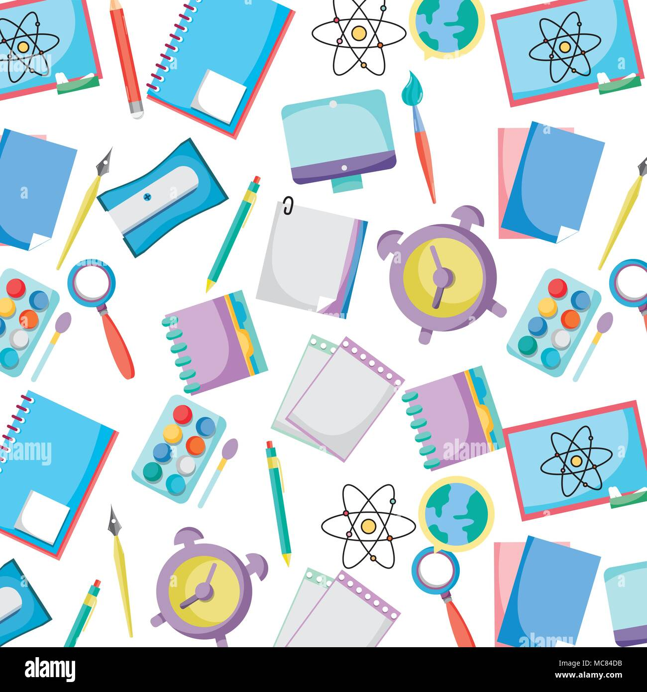 education school tools background design Stock Vector Art ...