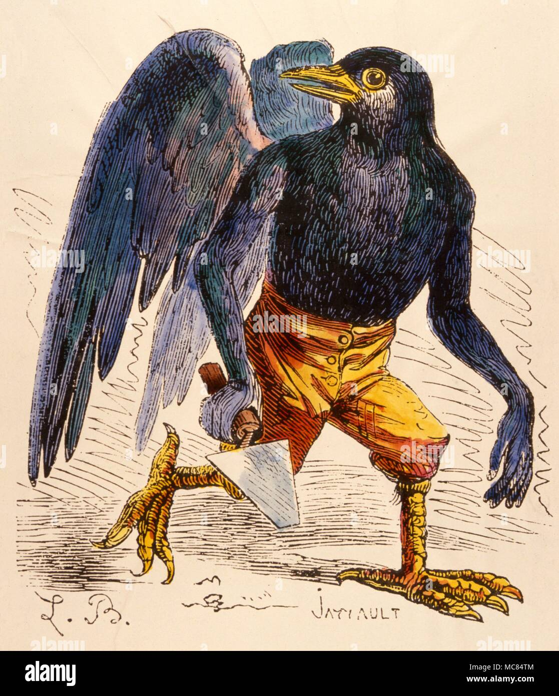 One of the 72 demons reputed to have helped King Solomon build his temple.  When conjured, Malpas usually appears in the form of a huge bird.   After the 1863 edition of Collin de Plancy, 'Dictionnaire Infernal'. - Stock Image